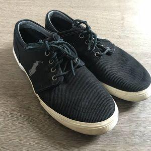Polo Ralph Lauren black faxon low sneaker sz 10